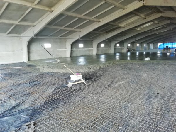Устройство бетонного пола птицефермы