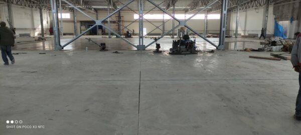 Устройство бетонного пола в г. Броды. Видео